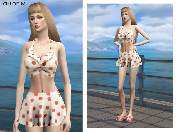 Sims 4 Swimsuits by ChloeMMM at TSR