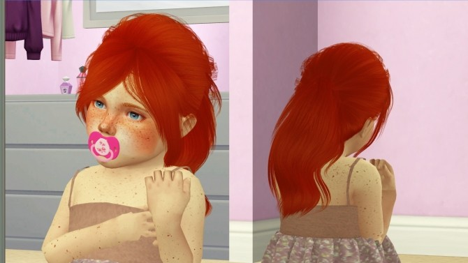 LEAH LILLITH JEN HAIR KIDS AND TODDLER VERSION by Thiago Mitchell at REDHEADSIMS image 1164 670x377 Sims 4 Updates