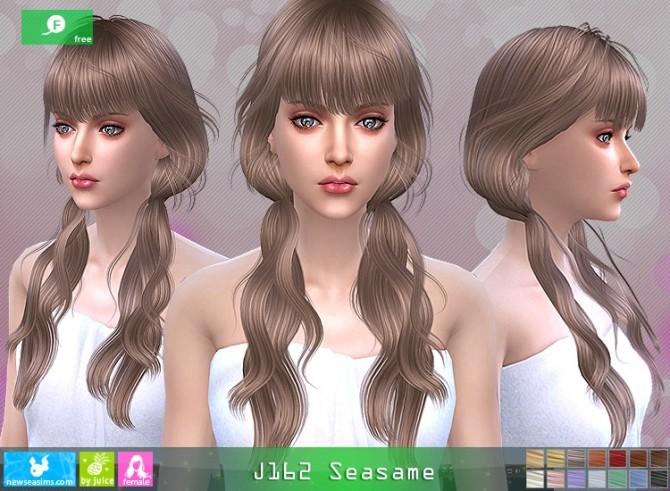 J162 Seasame hair at Newsea Sims 4 image 1165 670x491 Sims 4 Updates