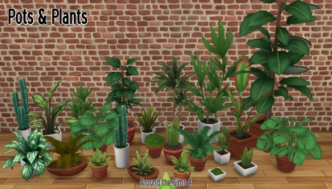 Sims 4 Pots & Plants by Sandy at Around the Sims 4
