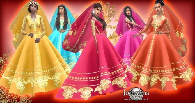 Sims 4 Exotic wedding dress at Jomsims Creations