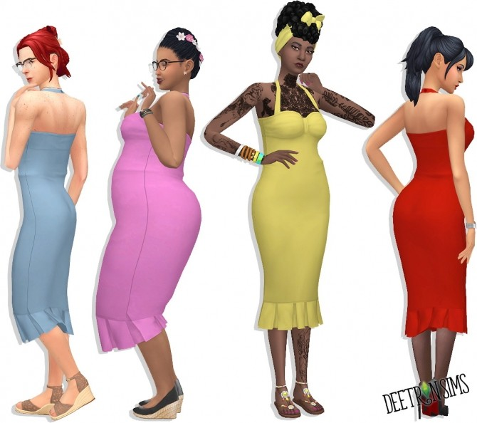 Sims 4 Belladonna Dress at Deetron Sims