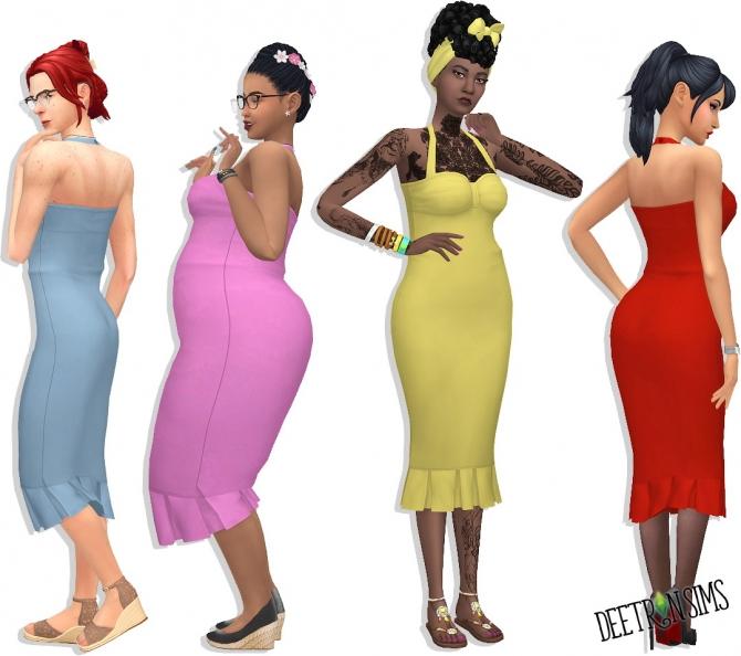Wrap Dress at Deetron Sims » Sims 4 Updates