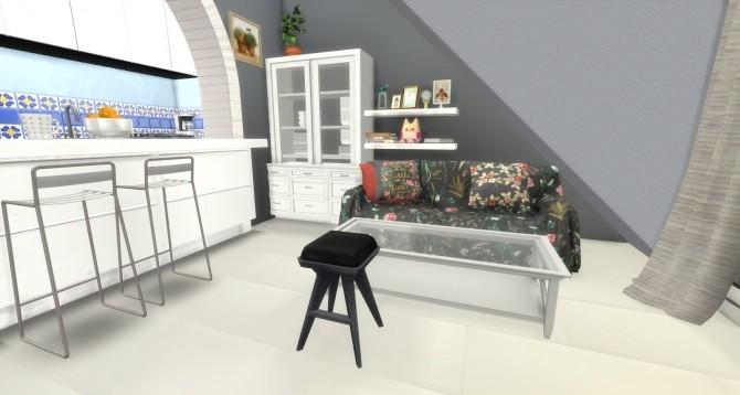 Sims 4 Carlos spanish inspired kitchen and living room at Pandasht Productions