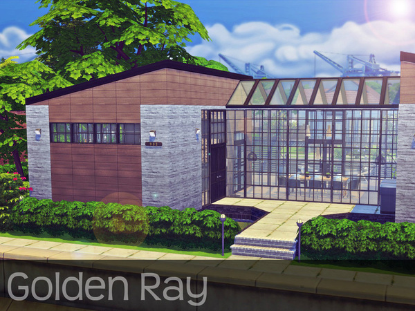 Sims 4 Golden Ray house by Sooky at TSR