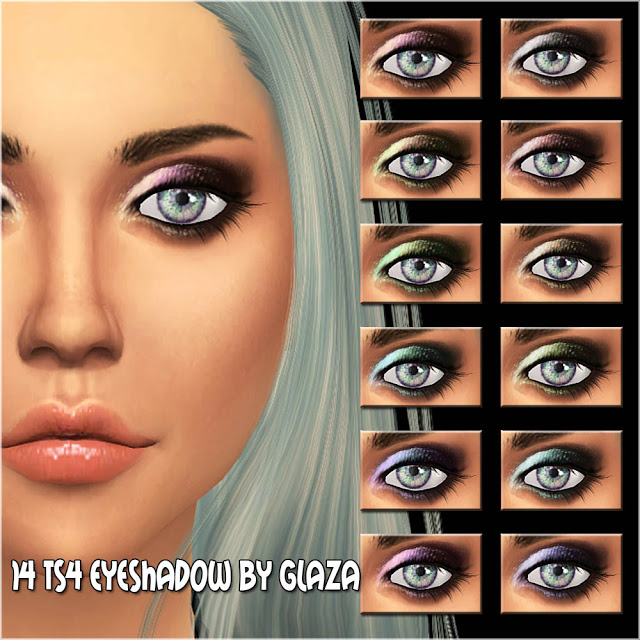 Eyeshadow #14 at All by Glaza image 1194 Sims 4 Updates