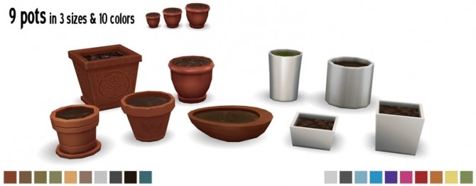 Pots & Plants by Sandy at Around the Sims 4 image 1195 670x262 Sims 4 Updates