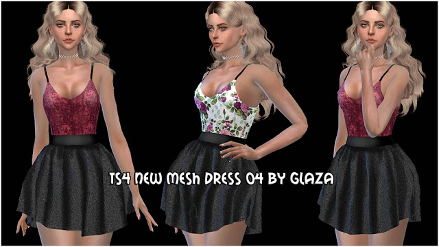 Sims 4 Dress #4 at All by Glaza