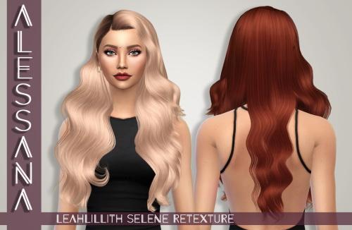 Sims 4 LeahLillith Selene Hair Retexture at Alessana Sims