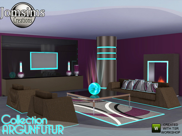 Sims 4 Argunfutur living room led and reflections by jomsims at TSR