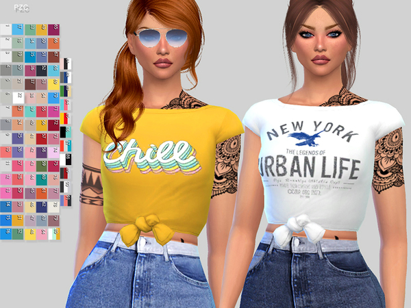 Paper Towns T shirt by Pinkzombiecupcakes at TSR image 1212 Sims 4 Updates