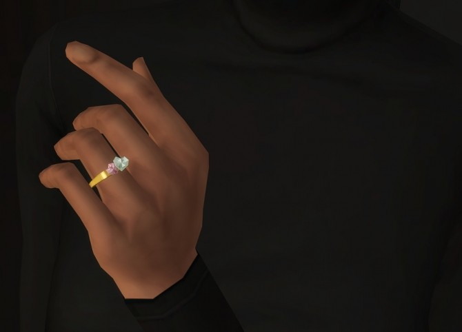 Sims 4 Double Heart Shape Ring at Rusty Nail