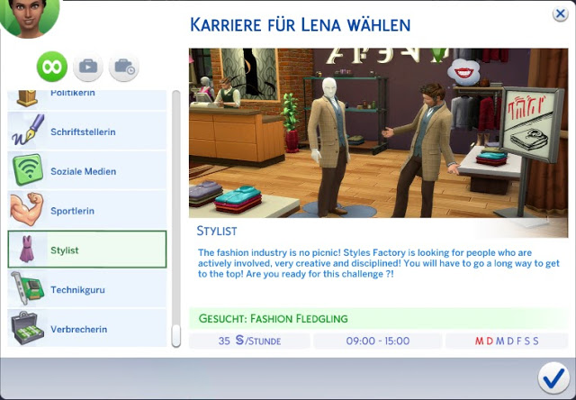 Sims 4 Stylist Career TS3 to TS4 at MSQ Sims