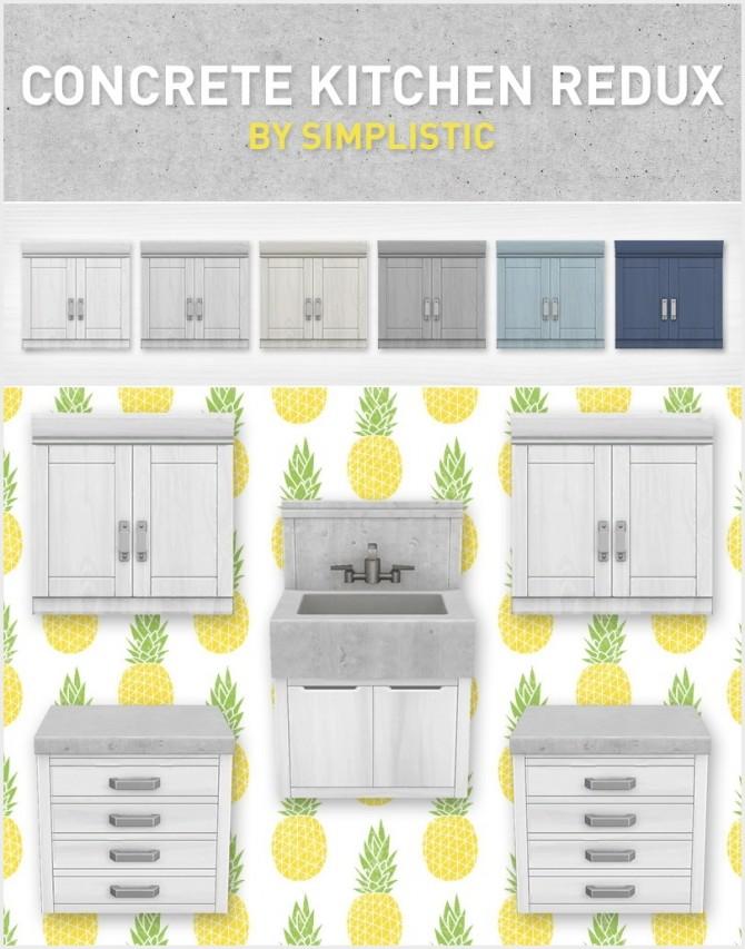 Concrete Kitchen Redux at SimPlistic image 12512 670x853 Sims 4 Updates
