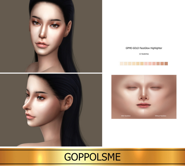 Sims 4 GPME GOLD FaceGlow Highlighter (P) at GOPPOLS Me