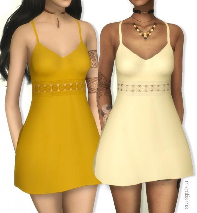 Samantha dress at Merakisims image 1257 670x722 Sims 4 Updates
