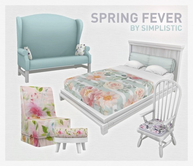 Spring Fever Set at SimPlistic image 12611 670x575 Sims 4 Updates