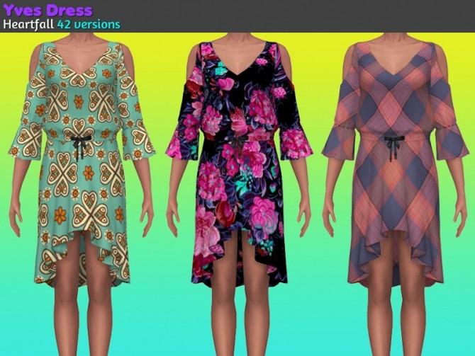Sims 4 Yves dress at Heartfall