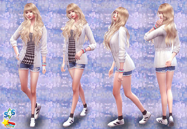 Combination Pose 26 at A luckyday image 1287 Sims 4 Updates