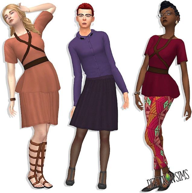Sims 4 Artemis Outfit (Top + Bottom) at Deetron Sims