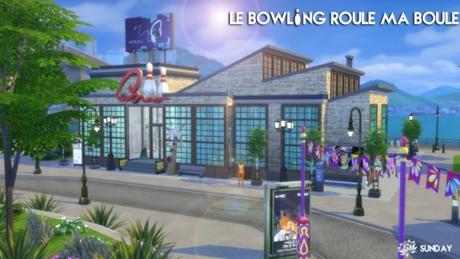 Sims 4 Bowling Roule ma boule by SundaySims at Sims Artists