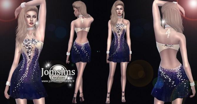 Sims 4 Kinnon dress at Jomsims Creations