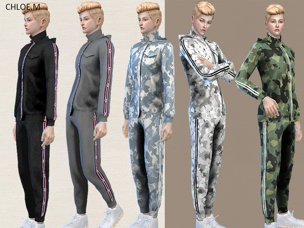 Sports Hoodie and shorts male by ChloeMMM at TSR image 1319 Sims 4 Updates