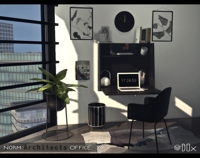 Sims 4 Norm Architects Office at DOX