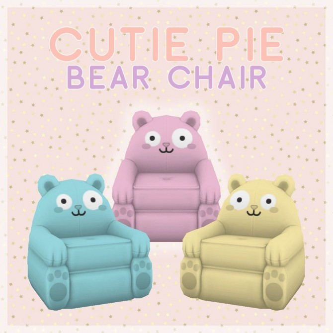 Cutie Pie Set Bear Chair At SimPlistic » Sims 4 Updates