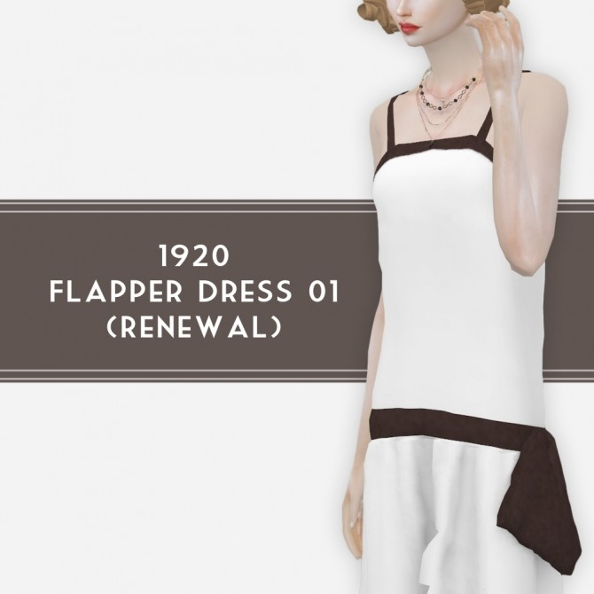 Sims 4 1920 Flapper dress 01 by Lonelyboy at Happy Life Sims