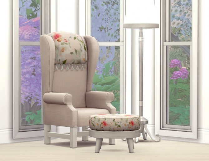 Sims 4 Spring Fever Armchair at SimPlistic
