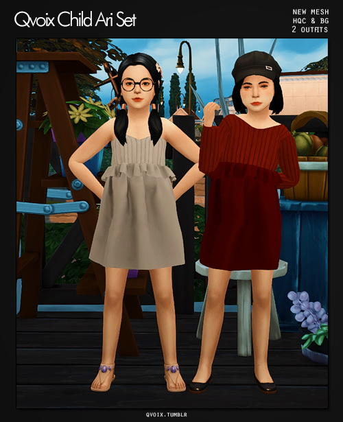 Ari Set kids at qvoix – escaping reality image 1336 Sims 4 Updates