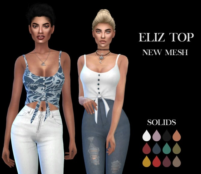 Eliz Top Fixed at Leo Sims image 1345 670x581 Sims 4 Updates