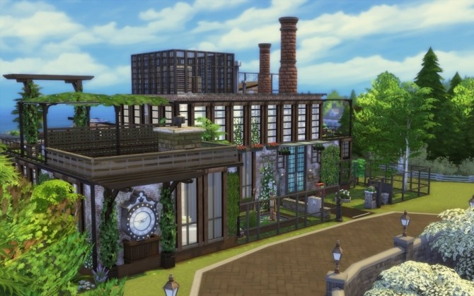 Sims 4 Chelsea loft by Bloup at Sims Artists