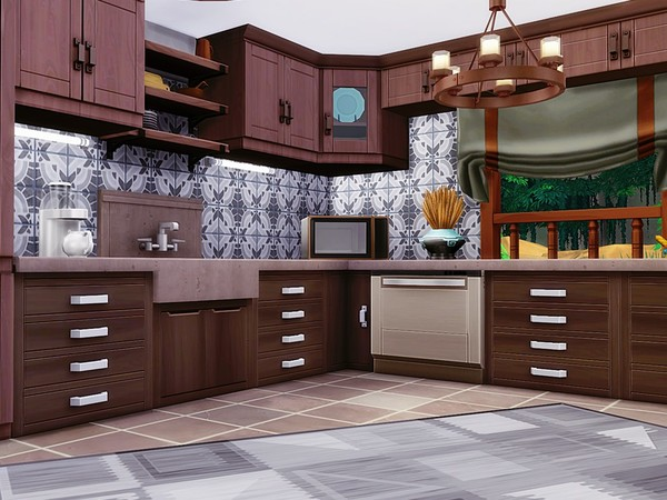 Sims 4 Bustling Jungle house by MychQQQ at TSR