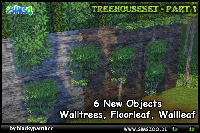 Treehouse Set Part 1 by blackypanther at Blacky's Sims Zoo image 1402 Sims 4 Updates