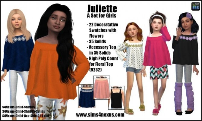 Juliette tops by SamanthaGump at Sims 4 Nexus image 14112 670x402 Sims 4 Updates
