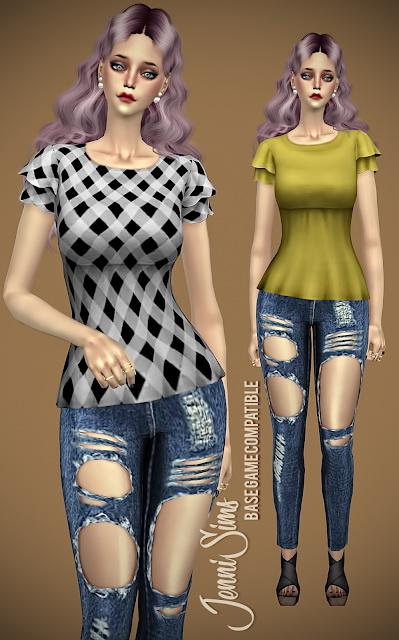 Blouse Spring Kiss at Jenni Sims image 14113 Sims 4 Updates