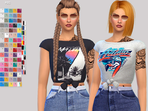 Paper Towns T shirt by Pinkzombiecupcakes at TSR image 1412 Sims 4 Updates