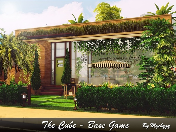 Sims 4 The Cube house by MychQQQ at TSR