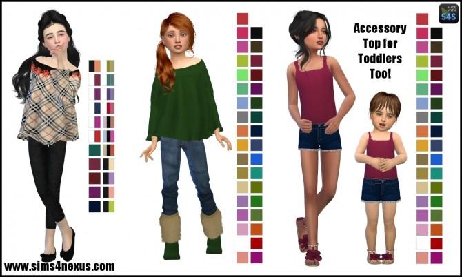 Sims 4 Juliette tops by SamanthaGump at Sims 4 Nexus