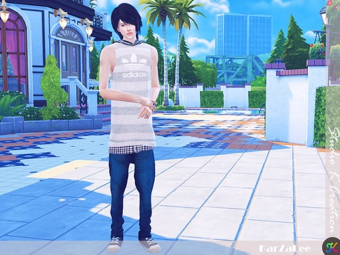 Hoodie tank top for male at Studio K Creation image 1432 670x502 Sims 4 Updates