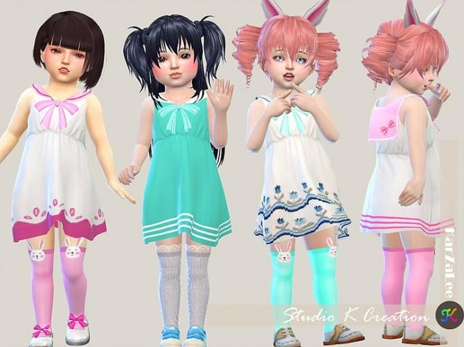 Dress N4 for little girls at Studio K Creation image 1463 670x502 Sims 4 Updates