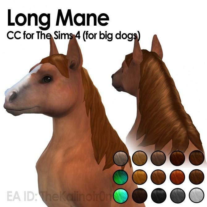 Sims 4 Long manes at Kalino