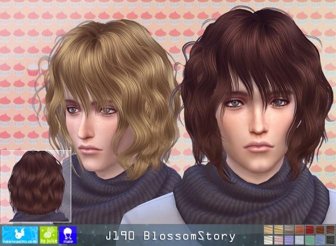 Sims 4 J190 BlossomStory hair M (P) at Newsea Sims 4
