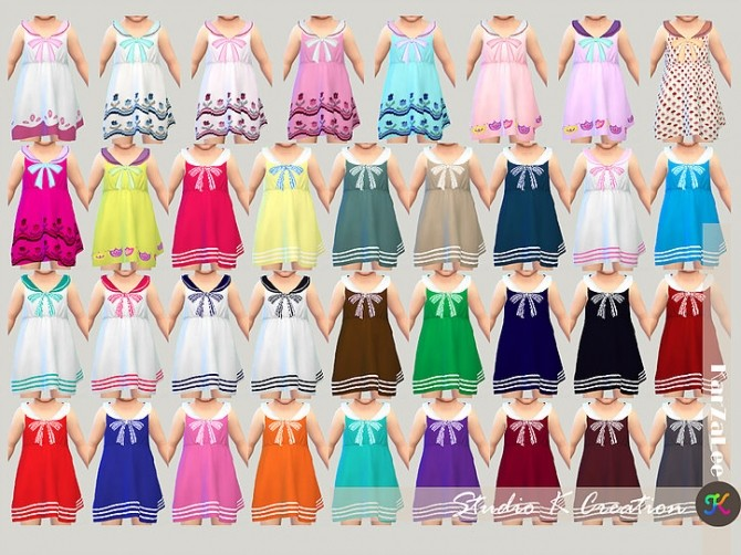 Dress N4 for little girls at Studio K Creation image 1473 670x502 Sims 4 Updates