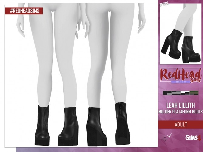 LEAH LILLITH MULDER PLATAFORM BOOTS at REDHEADSIMS – Coupure Electrique image 1475 670x504 Sims 4 Updates