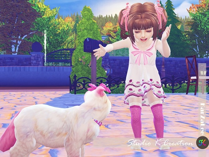 Dress N4 for little girls at Studio K Creation image 1483 670x502 Sims 4 Updates