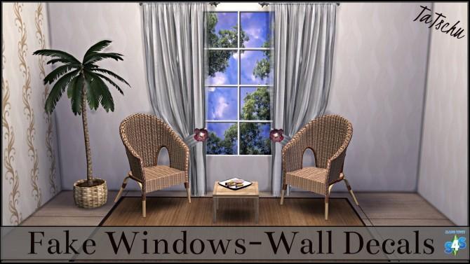 Fake windows wall decals at TaTschu`s Sims4 CC image 1489 670x377 Sims 4 Updates