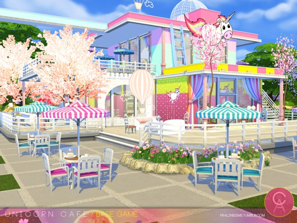 Unicorn Cafe by Pralinesims at TSR image 1510 Sims 4 Updates